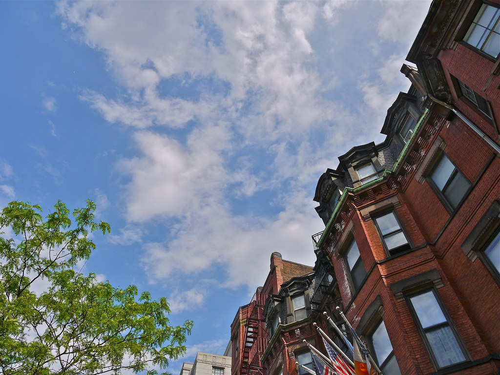 Newbury Street Boston: Looking Up