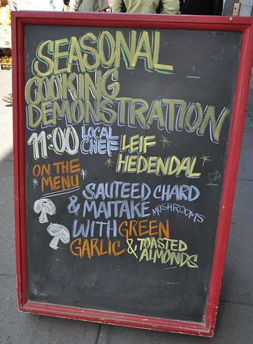 Sign for a healthy cooking demonstration