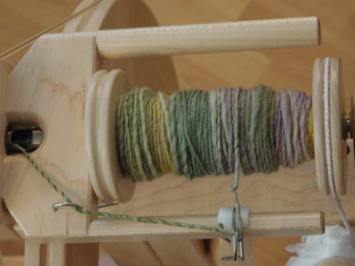 Yarn being spun