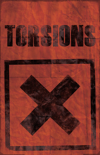Studio Ace of Spade - Simon H. - Torsions - The poster series - aged - 11x17 inches