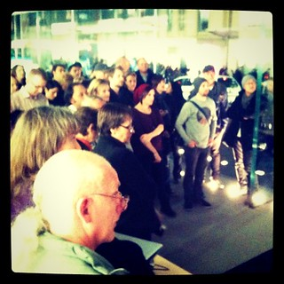 The crowd from my 1st photography exhibition @alexkess @sutto007 @oggsie @larahotz @lesleybourne @mishobaranovic @gregbriggs #instasyd #iPhoneography #Sydney
