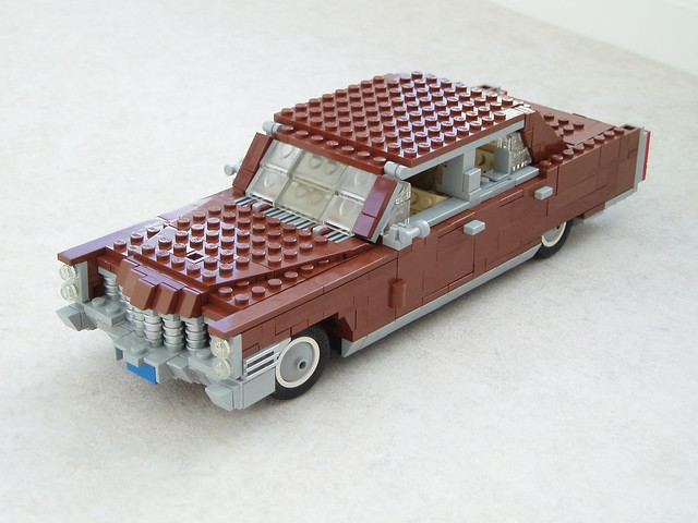 car model lego cadillac fleetwood lugnuts 1965 122