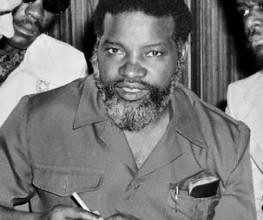 Sam Nujoma, a co-founder and former president of the South-west Africa People's Organization (SWAPO) of Namibia. Nujomo was also the first president of the independent Republic of Namibia. by Pan-African News Wire File Photos