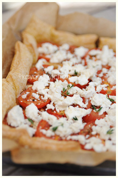 Tomato, Goat Cheese & Onion Tart « Kayotic Kitchen