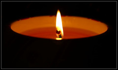 Flickr... (Digibug2) Tags: dark candle flame flicker canon100mmmacro rebelxti