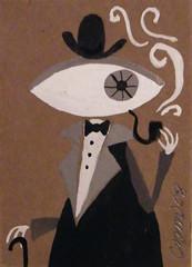 CZM - monstro de olho (C Z M) Tags: cactus abstract eye art strange monster modern illustration painting de weird mod cartoon jazz brain lsd fantasy aceo drugs dreams sacred devil 50s nightmare olho bizzare tripping monstro mescaline czm triipy