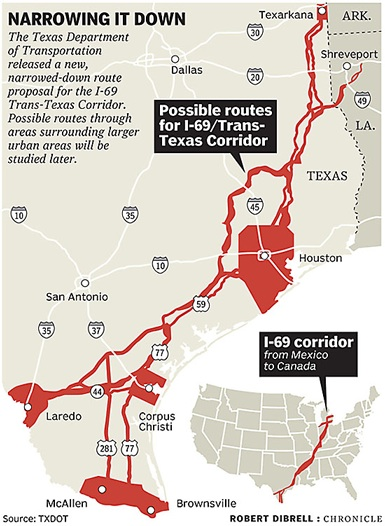 Map Of Interstate 69 In Texas.Ttc News Archives Trans Texas Corridor We Don T Want You We Don T