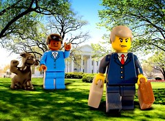Inauguration of President Barack Obama (Digger Digger Dogstar) Tags: white house george washington bush lego president minifigs 2009 inauguration barack obaba