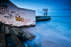 The Dive, Blackrock, Dublin, Ireland (jogorman) Tags: ireland sunset urban dublin evening twilight nikon paint grafitti dusk decay sigma eire spray nikkor 1020mm 1020 blackrock d3x