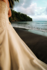 Dress At La Sagesse (derek n nitsa) Tags: wedding beach dress grenada caribbean lasagesse