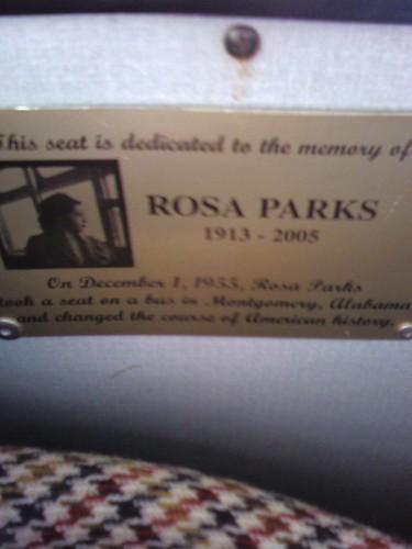 Rosa Parks Memorial Seat