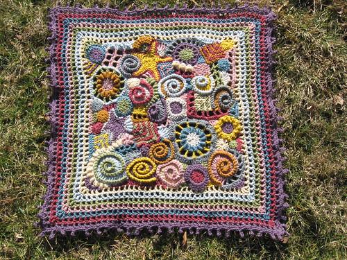 freeform baby blanket