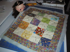 Quilt top - sewn and basted with pins.