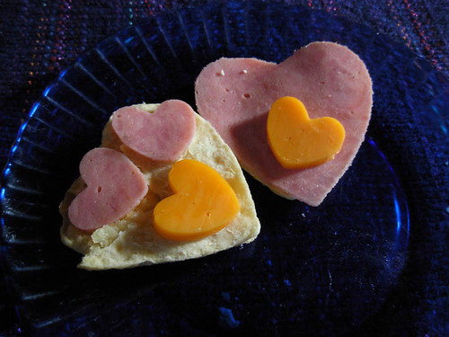 fun valentine heart biscuits