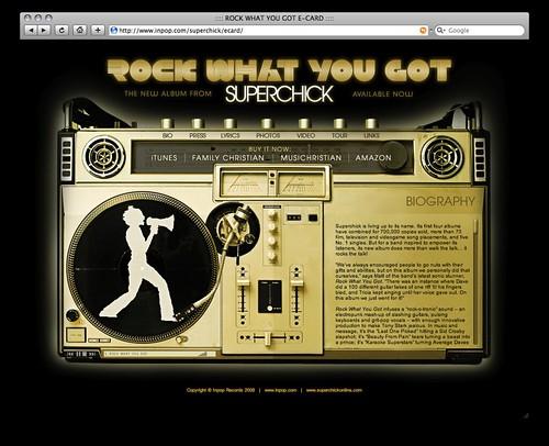 Superchick webpage