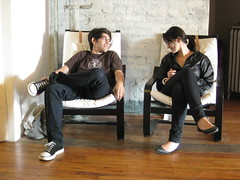 Aaron Swartz and Elizabeth Stark (nickgraywfu) Tags: friends aaronswartz elizabethstark
