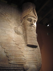 Lamassu Face (feministjulie) Tags: chicago stone museum ancient god iraq relief artifact orientalinstitute mesopotamia lamassu khorsabad