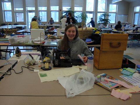 Jess's Quilting station