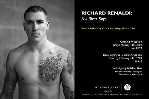 "Richard Renaldi's ""Fall River Boys"" at Jackson Fine Art, Opens February 13th"