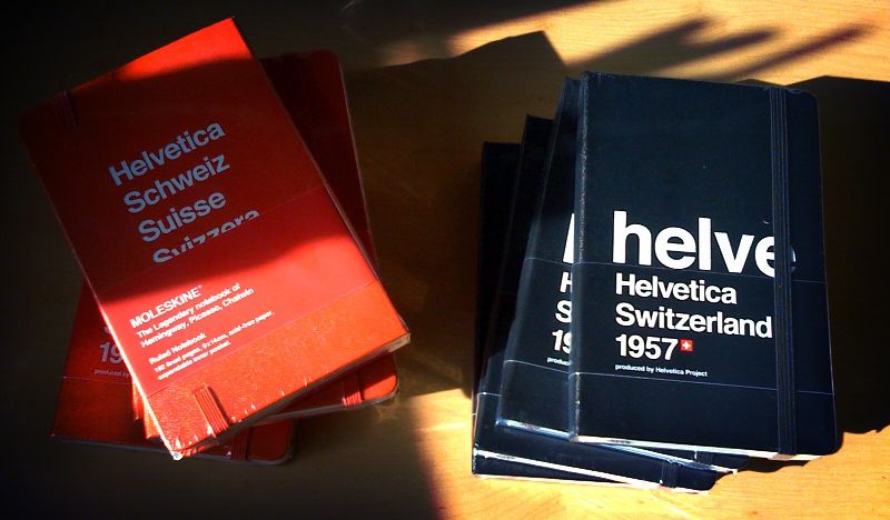 The Helvetica Moleskins have Arrived