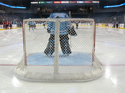 view of a goal judge