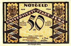 Jena, 50 pfg, 1921 (Iliazd) Tags: germany inflation notgeld papermoney inflationary germancurrency 19181922 emergencymoney germanpapermoney
