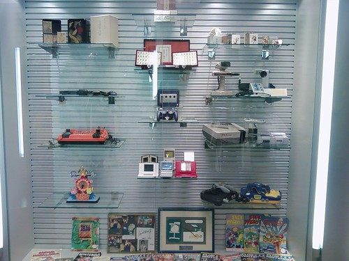Display Case with Nintendo Products
