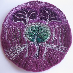 Tree Patterns (kayla coo) Tags: trees art landscape artwork embroidery textile fiberart brooches textileart treepatterns kaylacoo
