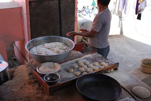 naan making