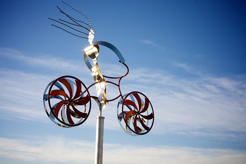 Bicycle Public Sculpture, We Made It To San Diego