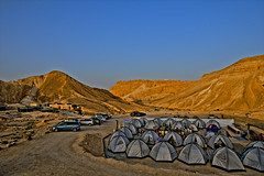 masada west night camp     (A   M) Tags: show travel camping light sleeping sea summer camp people west nature night landscape dead israel desert lodging  talk speaks sound area trips bags isreal  masada judea                                 davidbrozawihtguestmasada17aug2008