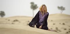 Desert/Charlotte/Breeze (D4NDEL10N) Tags: light hot girl fashion glamour sand dubai day open desert pentax bokeh uae middleeast dry location blonde arabia simple smc robes silkypix k20d da50135mm