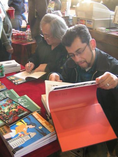 Jaime Hernandez & Stan Sakai exhibit opening, Fantagraphics Bookstore & Gallery, 04/04/09