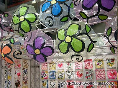 Hand-painted umbrellas