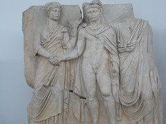Claudius & his wife Agrippina (peterpeers) Tags: sculpture turkey claudius afrodisias ancienttimes romanperiod sebasteion juliandynasty