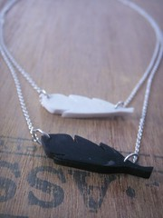 Contest Entry for MTOTNA (bbel-uk) Tags: bird silver fly necklace recycled feathers jewelry jewellery bbel