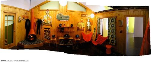 Inside the Mike Shine surf shack.