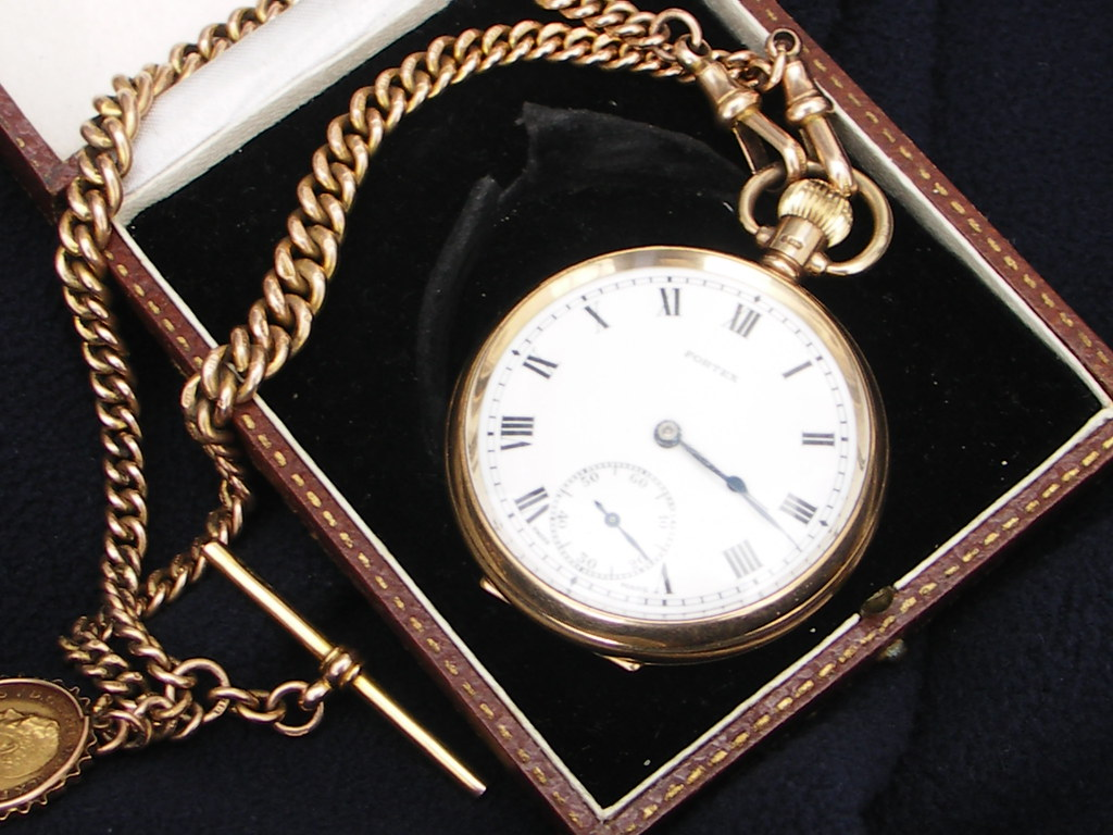 Old gold watch