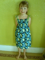 Smocked dress from weekend sewing
