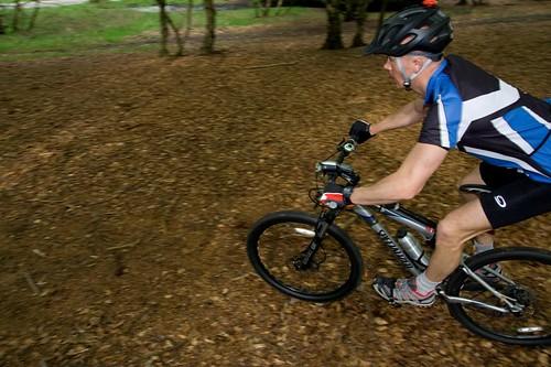 Mountain bike race in Forest
