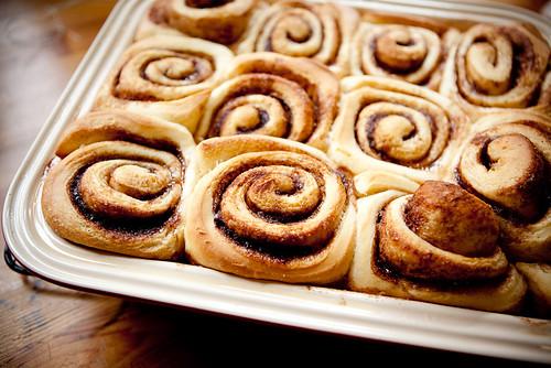 Cinnamon Buns, baked