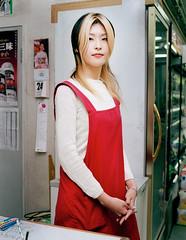 Convini Shop ass. Girl (Riemanello) Tags: japan asian store nagoya mamiya7 convinience
