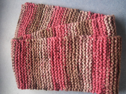 Hand knitted scraf for grandmother