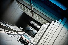 Tunnel Vision... (SonOfJordan) Tags: street colour car canon eos volvo day pattern amman tunnel jordan tilt xsi lanes  450d  7thcircle samawi sonofjordan shadisamawi  wwwshadisamawicom