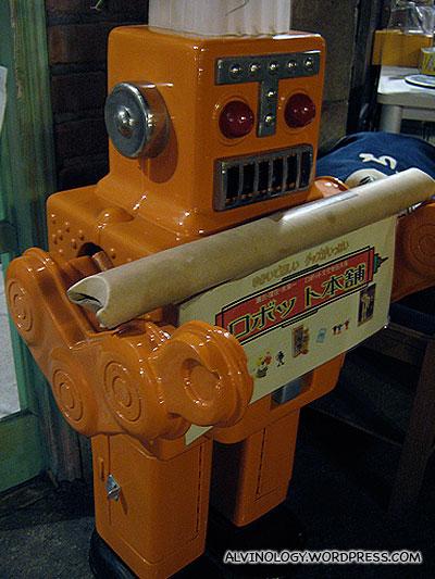 Retro tin robot