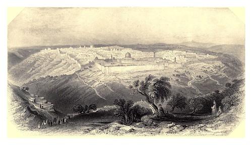 007-Jerusalem desde el monte de los olivos-Bartlett, W. H. 1840-1850