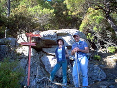 Proud sign makers (egotoagrimi) Tags: signs hiking ikaria aegean trails canyon greece signage hikingtrails  chalares  agrimi