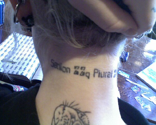 Section Zed zed plural zed alpha tattoo. View 1.
