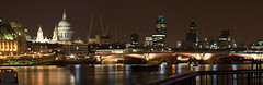 Blackfriars Bridge - Pano 02 (Davide Simonetti) Tags: longexposure panorama london thames reflections photo amazing group nightshots stpaulscathedral riverthames panos blackfriarsbridge the
