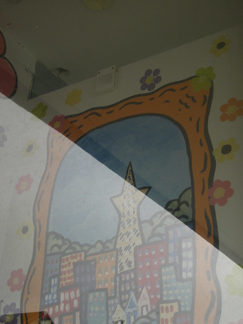 mural behind the widgety window